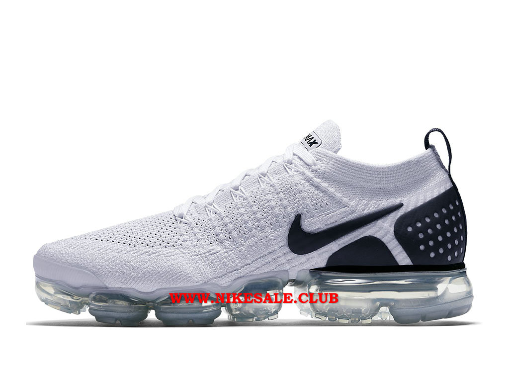 new release famous brand fashion Chaussures Homme Nike Air VaporMax Flyknit 2.0 Prix Pas Cher Blanc ...